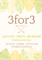 3 for 3 Musicpresents the